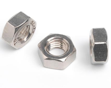 Stainless Steel Fine Thread Hexagon Full Nuts