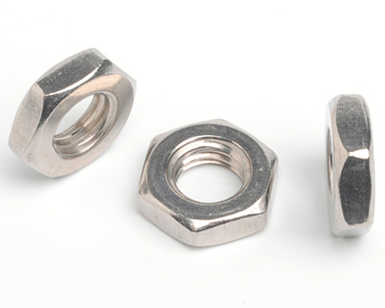 Stainless Steel Fine Thread Hexagon Thin Nuts
