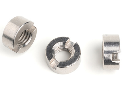 Stainless Steel Slotted Round Nuts