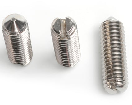 Stainless Steel Slotted Set Screws Cone Point