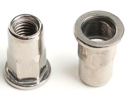 Stainless Steel Flat Head Half Hex Insert Nut