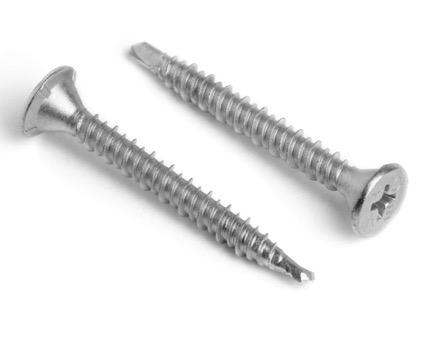Stainless Steel Phillips Countersunk Bi-Metal Tek 2 Drywall Screws