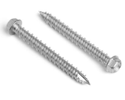 Stainless Steel Hexagon Head Bi-Metal Multifix Masonry Screws